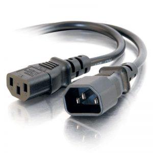 """כבל חשמל """"קומקום"""" זכר נקבה למחשב C13 Computer Power Cable 1.8M"""