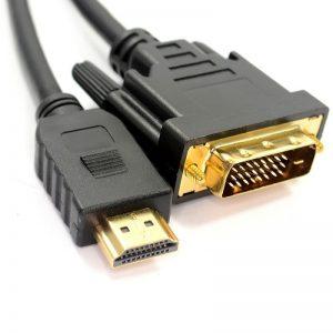 כבל מתאם HDMI to DVI Male Cable Gold Connectors