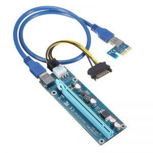 מתאם לכרטיס מסך לכרייה - Riser 006C חיבור חשמל 6 פין וכבל USB