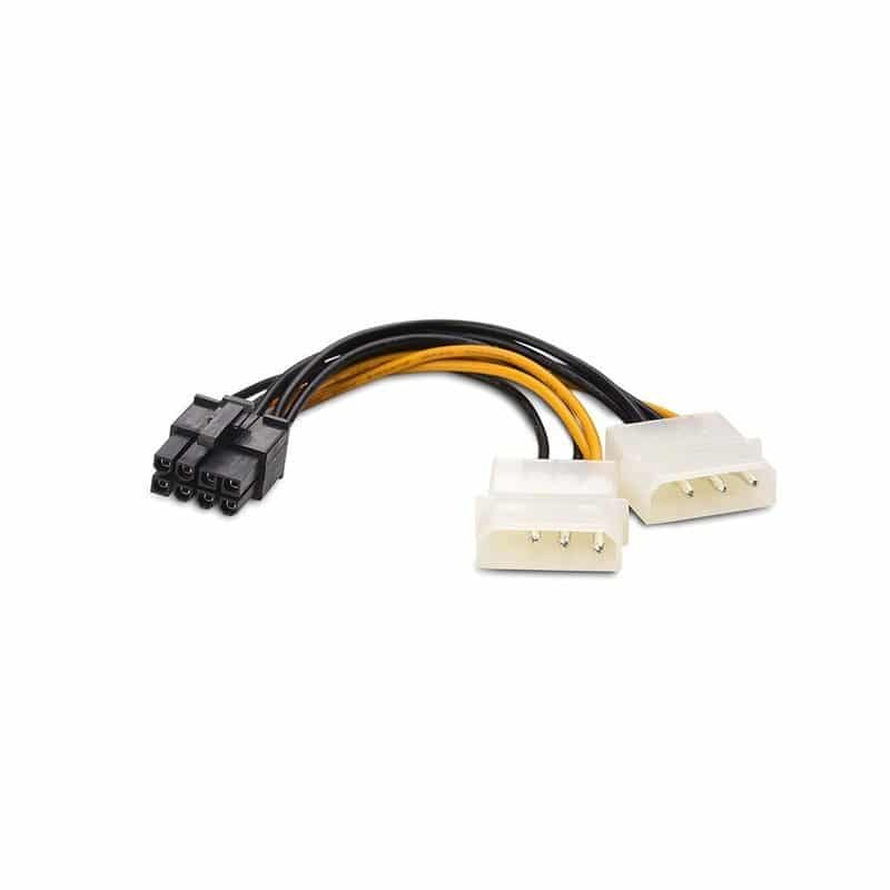 מאוד מתאם חיבור חשמל MOLEX POWER כפול לחיבור 8 פין לכרטיס מסך MM-85
