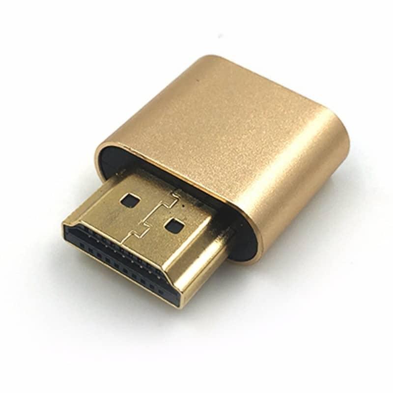פלאג דמה לשליטה מרחוק תיקון רזולוציה Virtual Display Adapter HDMI 1.4 DDC EDID Dummy Plug