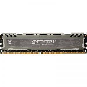 Ballistix Sport LT 8GB Single DDR4 2666 MT/s (PC4-21300) SR x8 DIMM 288-Pin Memory - BLS8G4D26BFSBK (Gray)