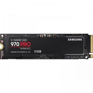 SAMSUNG 970 PRO M.2 2280 512GB PCIe Gen3. X4, NVMe 1.3 64L V-NAND 2-bit MLC Internal Solid State Drive (SSD)
