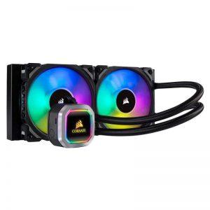 CORSAIR Hydro Series, H100i RGB PLATINUM, 240mm, 2 X ML PRO 120mm RGB PWM Fans CW-9060039-WW