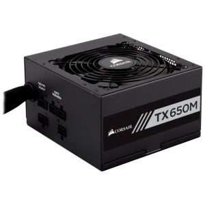 CORSAIR TX-M Series TX650M 650W ATX12V v2.4 / EPS 2.92 80 PLUS GOLD Certified Semi-Modular Active PFC Power Supply