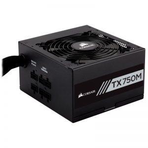 CCORSAIR TX-M Series TX750M 750W ATX12V v2.4 / EPS 2.92 80 PLUS GOLD Certified Semi-Modular Active PFC Power Supply
